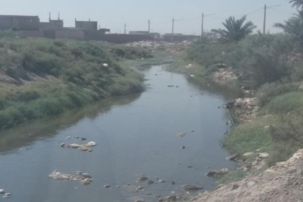 نهر پر از فاضلاب