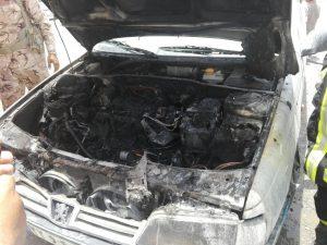 آتش گرفتن پژو ۴۰۵